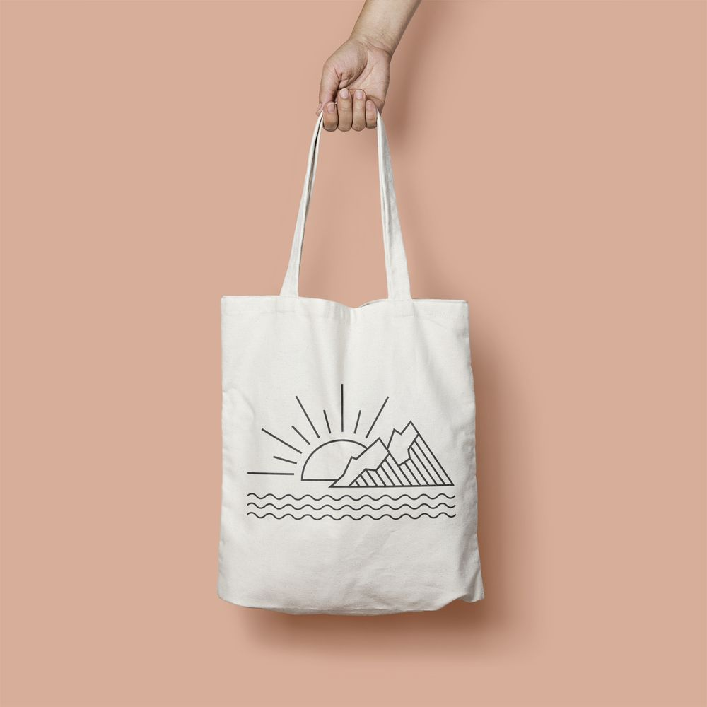 Nature Graphic Tote Bag